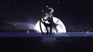 League of Legends Diana Wallpaper by Misieq