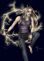 Cry Thunder *colored* (Dragonforce/Marc Hudson) by CaptainMetal