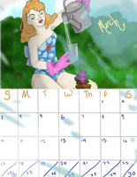 Pin-Up Calender March by PluviaCadoLaxus