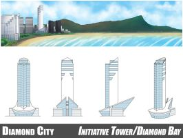 Diamond City - Initiative Tower/Diamond Bay by tazsaints