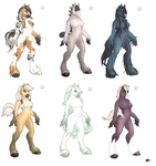 Mare anthro Adoptables. by Shalinka
