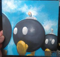 Bob-omb Battlefield Painting by marywinkler