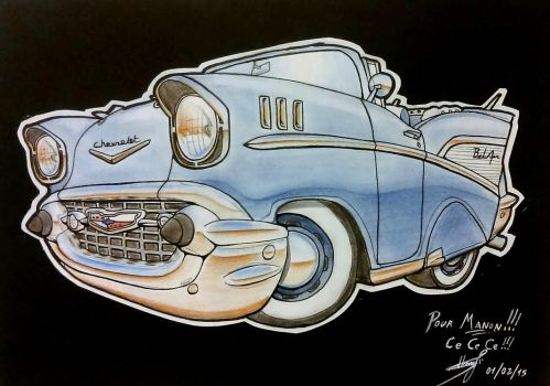 Shibi Chevy Bel Air 57 by Roadkingin66