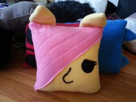 Fluttershy Pillow by OddCurio