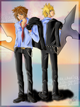 Sora and Roxas colored by MartyIsi