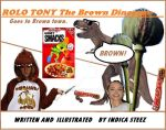 Rolo Tony The Brown Dinosaur (childrens book) by Indica138