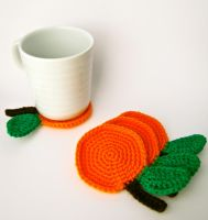Orange Coasters by button-tree