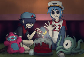 Midnight Zombie Cake Party by aisu-isme