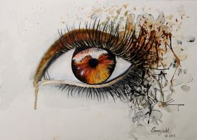 Aquarell Eye 3 by Sajana25