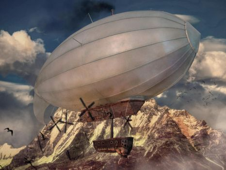 Steampunk Airship Model by LucidDesignFX