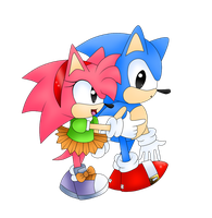 Classic SonAmy by YannerysMariaPink