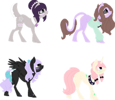 Pastel Goth/ Soft Grunge Pony Adopts CLOSED by acervine