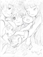 The NaruHina Family-Cuddle by NelNel-Chan