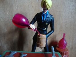 One Piece - Sanji cocinando con pasion! by stopmotionOSkun