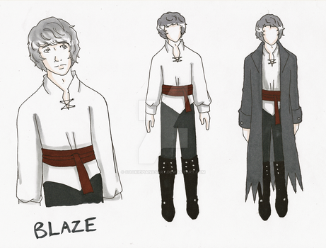 OC: Blaze Reference Sheet (COMMISSION) by cookiepianosart