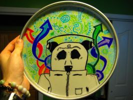 Drumhead- Headphone Panda Back by mattwalker21