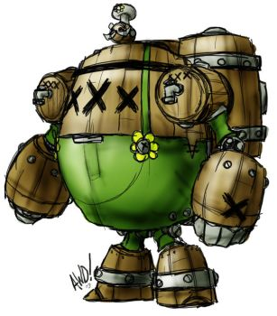 Barrel Bot by AndrewDickman