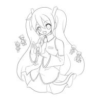 Vocaloid family - lineart by Ninamo-chan