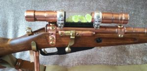 Steampunk Uranium Reactor Pulse Rifle MK III by jimdavidson3