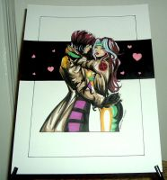V-day Rogue + Gambit by raccoon-eyes