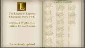 Story Book - Table of Contents by AODRG