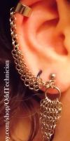 Silver Chainmail Earcuff by ulfchild
