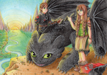 Art Trade: Httyd2 for Nezrenael by Yuumeee