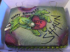 Zombie Hand Cake by keki-girl