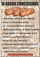10 Bacon Conclusions by DENNISART999