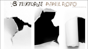 Pack8Texturas_Papel roto by PeeaceLoove