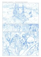 Pirate comic penciled page by OscarCelestini