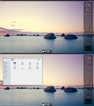 Shoreline Gnome Desktop by Dobbie03