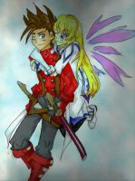 Lloyd and Colette by titanstargirl