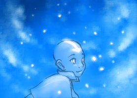TLA 30D - Day 12 - Aang by Kurozora-Konoi