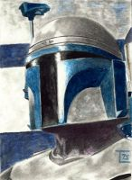 Jango Fett Sketch Card by TolZsolt