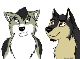 Nida and Kodi by ArticWolf14
