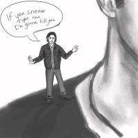Standing on Dean's Shoulder by Obsess-Confess