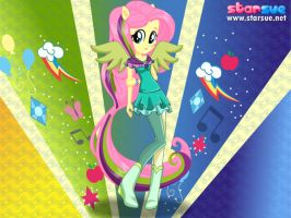 Equestria Girls Fluttershy as Saddle Rager by unicornsmile