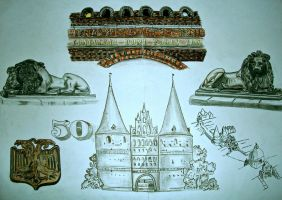Sketches about Holsten gate by macdieter