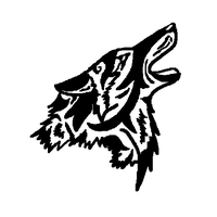 FREE Coyote Howl tribal design by LouaWolf