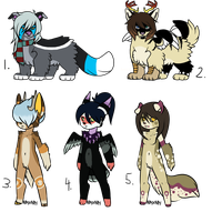 Random Adopts (CLOSED) by Neon-Spots-Adopts