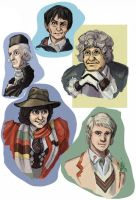 The Five Doctors Doodle by DionysiaJones
