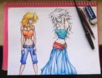 Fem! Bakura and Marik. by Djpunupipi