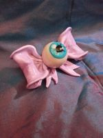 Eye ball bow pin by tragicbat