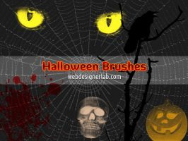 Halloween Brushes by xara24