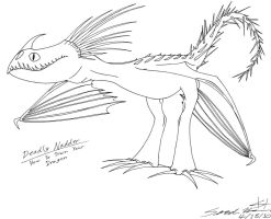 HTTYD - Deadly Nadder lines by grievousfan