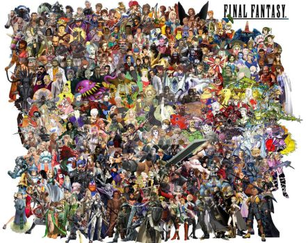 Final Fantasy Tribute by PerisIllustration