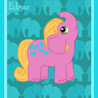 Pony Friends - Edgar the Elephant by HellLemur