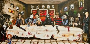 horror icons last supper by mneferta