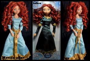 repainted ooak merida doll. by verirrtesIrrlicht